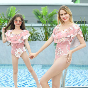 Ruffle Trouble- Mommy and Me Swimwear
