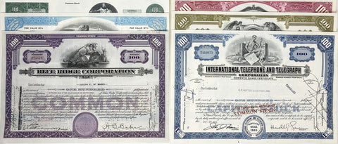 Stock and Bond Certificates