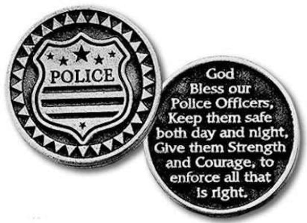 Police Blessing Coin, Shield, Keep Police Safe