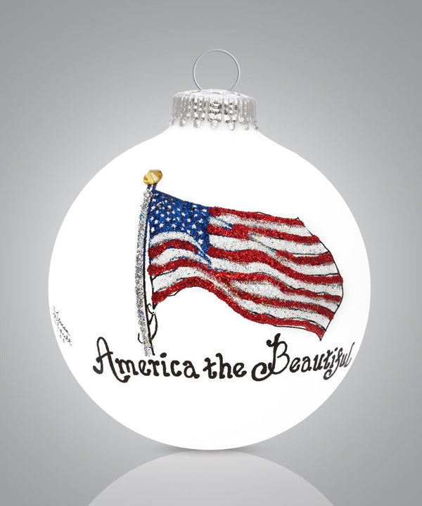 America the Beautiful Flag Ornament