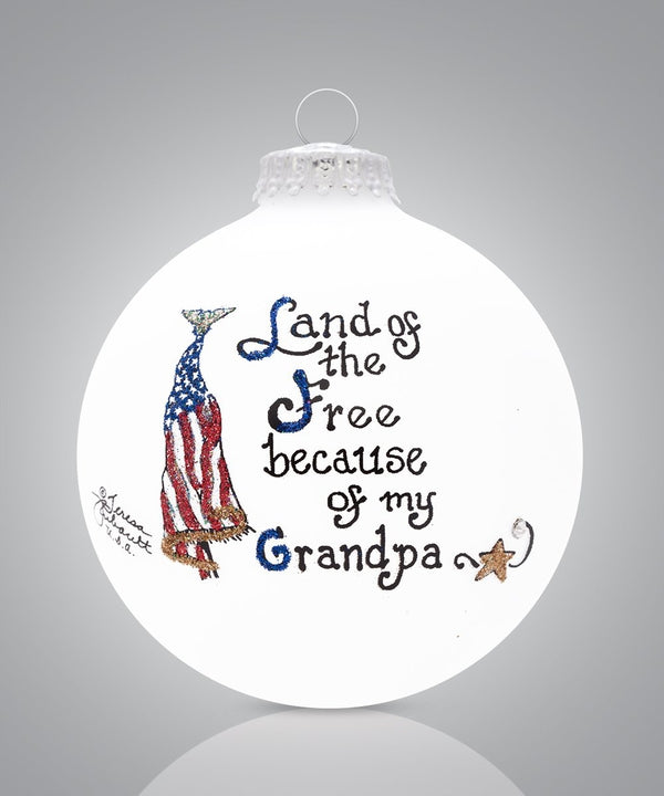 Grandpa - Land of the Free Ornament