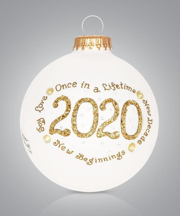 2020 Christmas Ornament - Gold