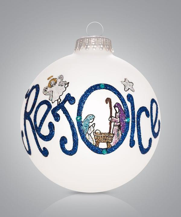 Rejoice Nativity Ornament