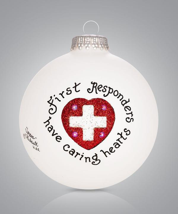 First Responder Heart Ornament