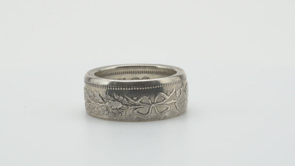 Japanese 50 Sen Silver Coin Ring Polished
