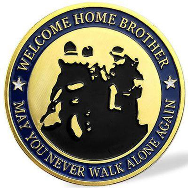 Welcome Home Brother Military Challenge Coin