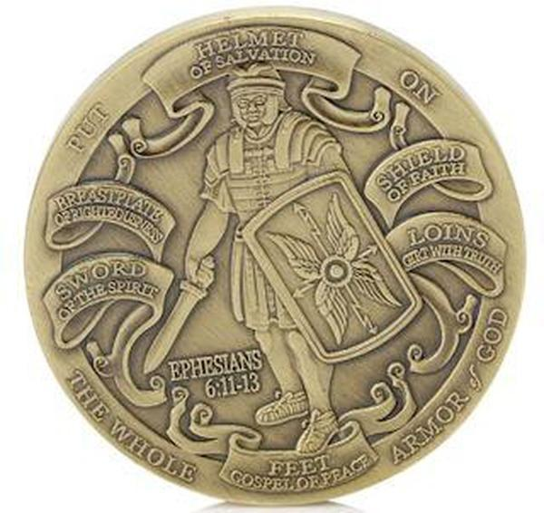 US Marines Bronze Armor of God Challenge Coin