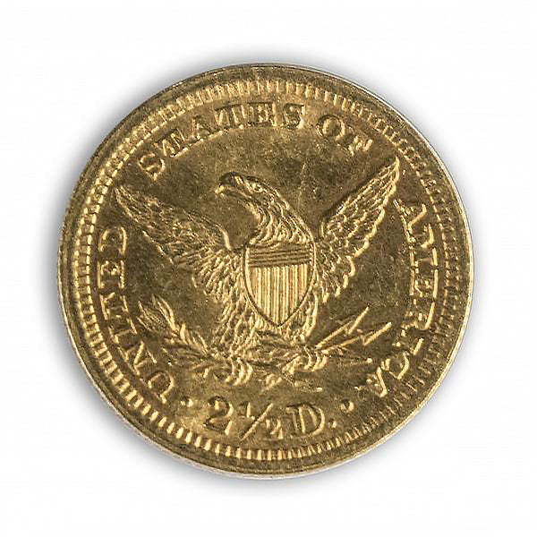 "1861 Gold Liberty ""Quarter Eagle"" of the Civil War"