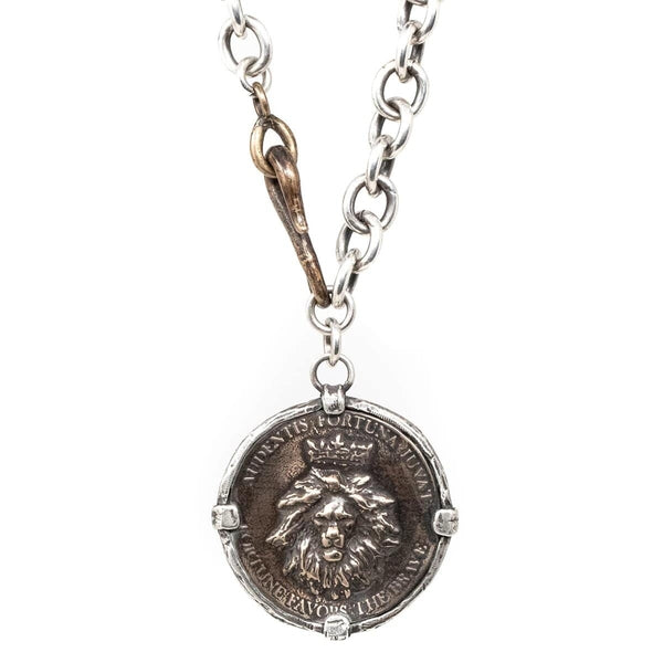King Lion Statement Coin Necklace