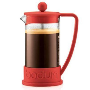 Bodum Brazil French Press Coffee Maker Red - 8 Cup, 1.0 L, 34 Oz - Wexford Coffee Roasters