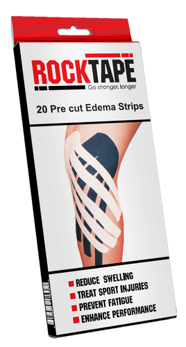 Rocktape Oedema Strips Bx/20 (black) - Spinal Wellness