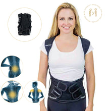 Load image into Gallery viewer, Heavy Duty Swedish Posture Corrector and Back Support Brace With Splints