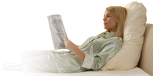 Load image into Gallery viewer, Pyramid Suport Pillow / Bed Wedge - Best for Reading, Relaxing and Positioning