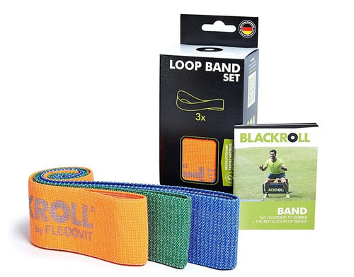 BlackRoll Fabric Loop bands Set of 3 - Spinal Wellness