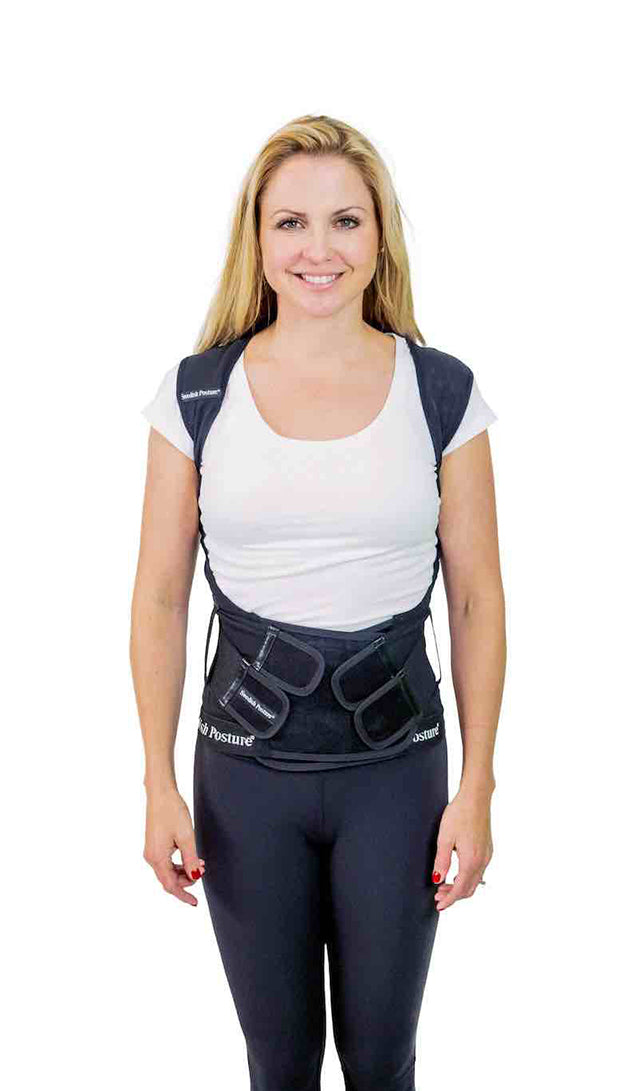 Heavy Duty Swedish Posture Corrector and Back Support Brace With Splints