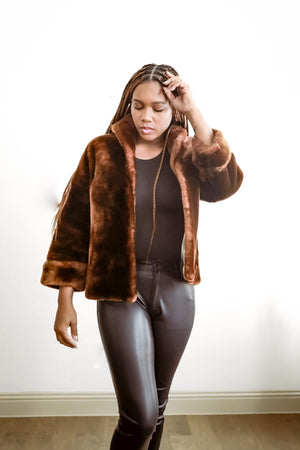 Vintage Brown Faux Fur
