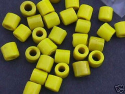 Yellow Tube Beads 8mm Hemp Purse Handle 4mm Hole