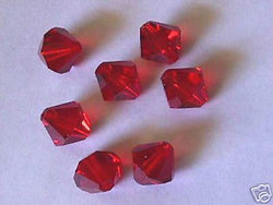 Lt Siam Red Swarovski 5301 Crystal Bicone Beads 12mm 8p