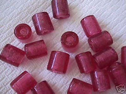 Rose Pink Tube Beads 4 Hemp Purse Handle 3mm Hole 14mm
