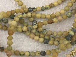 Natural Yellow Turquoise Beads 6mm 15""