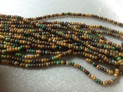 10/0 Aged Stripes Green Brown Red  Blue Yellow Picasso Czech Crow Beads 72""