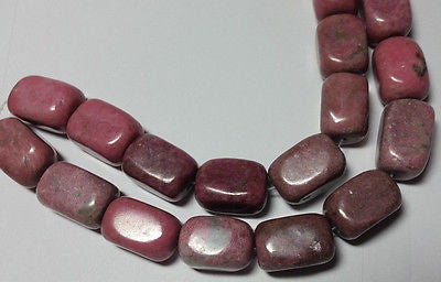 Pink Rhodonite Lg Semi Precious Nugget Beads 20mm 10p