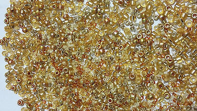 11/0 8/0 6/0 Gold Metal Mix Bead Soup Toho Seed Beads