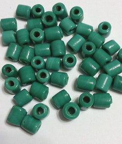 Teal Aqua Tube Beads 10mm 4 Hemp Purse Handle 3mm Hole