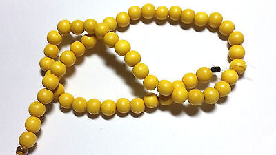 Dark Yellow Round Wood Beads 8mm 16""