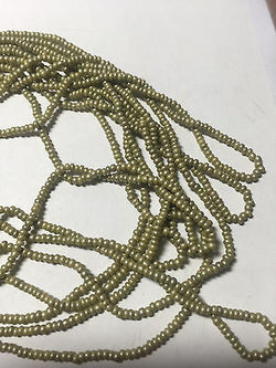 11/0 Dijon Mustard Yellow Olive Silk Czech Seed Beads 6 Strands 120 inches