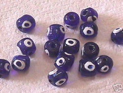 Blue Evil Eye Beads 18pc 12mm Mystical Protection Beads