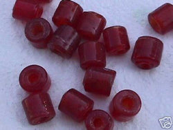 Ruby Red Tube Beads 10mm 4 Hemp Purse Handle 3mm Hole