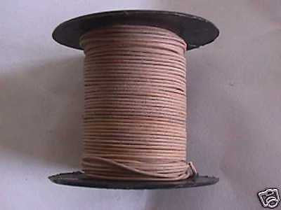 Natural Leather Beading Cord .5mm 75 feet