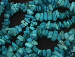 Turquoise Blue Howlite Semi Precious Chips 36in