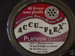 Accu Flex 49 strand Clear .014  Beading Wire 30ft