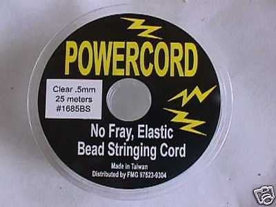 .5mm Clear Powercord Best Beading Elastic Cord 75ft