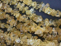 Yellow Citrine Stone Semi Precious Chips 16""
