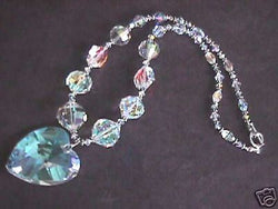 Grand Heart Vintage Swarovski Crystal Bridal Necklace