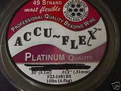 Accu Flex 49 strand Clear .012  Beading Wire 30ft