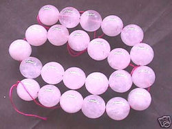 Pink Rose Quartz Natural Round Beads 16mm 15""