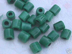 Rasta Green Tube Beads 14mm Hemp Purse Handle 4mm Hole
