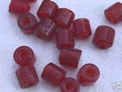 Red Trans Tube Beads 8mm Hemp Purse Handle 4mm Hole