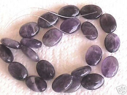 Natural Purple Amethyst Flat Oval Beads 18mm 15""