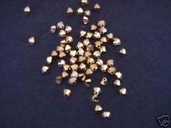 Aurum Gold 2x AB Swarovski 5301 Bicone Beads 4mm 24pc
