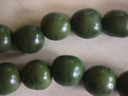 Olive Green Vege Ivory Tagua Nut Wood Beads 18mm 20mm