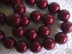 Bordeaux Red 14mm Swarovski Crystal Pearl Beads 10pc