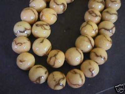 Natural Colored Limestone Tiger Coral Beads 15mm 16""