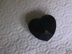 Celestial Crystal Black Heart Pendant Bead 28mm