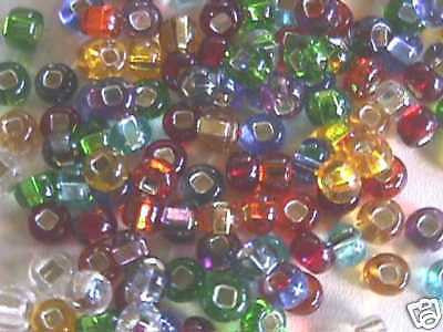 2/0 Multi Color Mix Silver Lined Czech Seed Beads