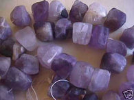 Natural Amethyst Square Nugget Beads 12p 10mm 15mm